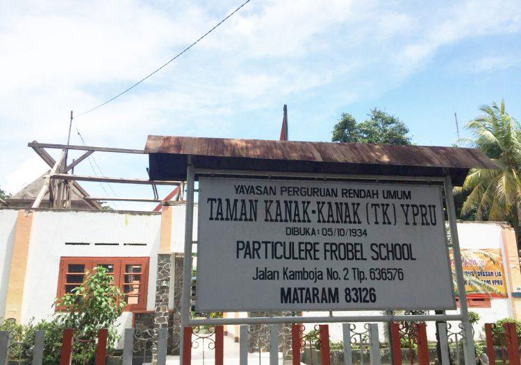 Yayasan LIA Menyerahkan Bantuan  Rehabilitasi Sekolah Taman Kanak-kanak YPRU di Kota Mataram NTB
