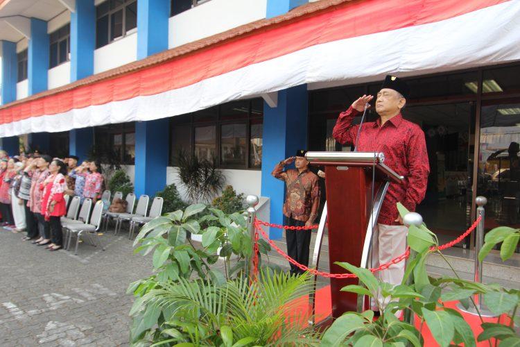 Upacara bendera Hut ke 74 Republik Indonesia Tahun 2019